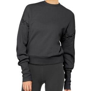 ALO Hook-up Lattice Long Sleeve Pullover Sweater L